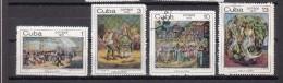 Cuba 1970 Mi Nr 1636 - 1639 Folklore - Cuba