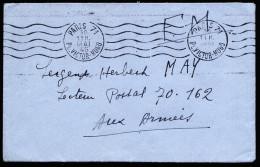 A3845) France Frankreich Feldpost-Brief F.M. Von Paris 30.5.45 An 70.162 - Frankreich