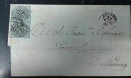 Lettera Stato Pontificio Coppia Mezzo Baj - Estados Pontificados