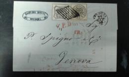 Lettera Stato Pontificio 8 Baj 4 Baj Ottimi Margini - Estados Pontificados