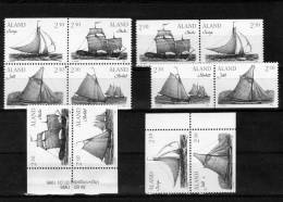 ZD-Varianten 1995 Äland 95/8 +4-Block II ** 12€ Segelboote Schären Bloc Sheet Ss Ship Se-tenant Bf Booklet Finnland - Aland