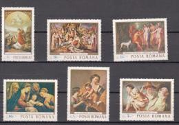 Roemenie 1968 Mi Nr 2706 - 2711 Schilderijen Compleet - 1948-.... Republics
