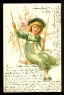 Small Girl On The Swing / Verlag Von Wezel&Naumann / Year 1900 / Old Postcard Circulated - Portraits