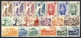 S. Pierre Et Miquelon 1947 Serie N. 325-343 Attività E Paesaggi MLH Catalogo € 50 - Nuovi