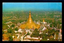 Shwedagon Pagoda From The Air. Rangoon / Postcard Circulated - Myanmar (Birma)
