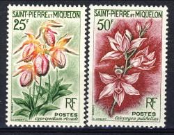 S. Pierre Et Miquelon 1962 Serie N. 362-363 Fiori MNH Catalogo € 15,30 - St.Pierre & Miquelon