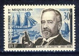 S. Pierre Et Miquelon 1963 N. 368 Fr. 30 Albert Calmette MNH Catalogo € 11,50 - St.Pierre & Miquelon