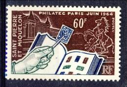 S. Pierre Et Miquelon 1964 N. 371 Fr. 60 Expo Filatelica MNH Catalogo € 13 - St.Pierre & Miquelon