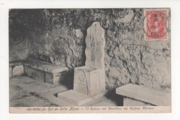 Carte Postale Ancienne  LE TRONE DU ROI DE CRETE MINOS 1917 GRECE ETAT  MEDIOCRE - Griechenland