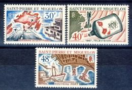 S. Pierre Et Miquelon 1967 Serie N. 376-378 MLH Catalogo € 33,30 - St.Pierre & Miquelon