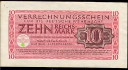 Wehrmacht Verrechnungsschein 10 MARK 1944 WWII Bank Note Germany Third Reich - [10] Military Banknotes Issues