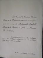 92 ANTONY - Faire-Part De Mariage De Isabelle, Fille Du Comte BECCI De La RIVIERE Et Daniel ARBON - 1er Juillet 1977 - Mariage