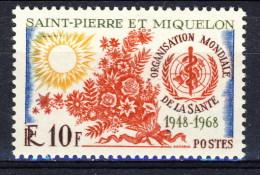 S. Pierre Et Miquelon 1968 N. 379 OMS MNH Catalogo € 15 - St.Pierre & Miquelon