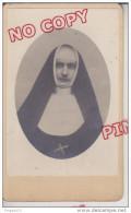 Au Plus Rapide CDV Photographe Anonyme Portrait Religieuse Religion - Personnes Anonymes