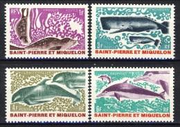 S. Pierre Et Miquelon 1969 Serie N. 391-394 Animali Marini MLH Catalogo € 21,80 - St.Pierre & Miquelon