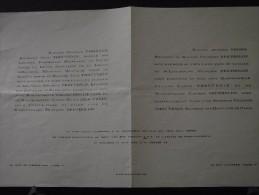 PARIS Ve - Faire-Part De Mariage Entre François BERTHOLON, S/Lieutenant Et Jeanne-Marie THOUVENIN - 13 Août 1947 - Mariage