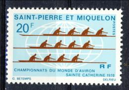 S. Pierre Et Miquelon 1970 N. 405 Fr. 20 Canottaggio MLH Catalogo € 21 - St.Pierre & Miquelon