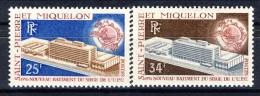 S. Pierre Et Miquelon 1970 Serie N. 399-400 Sede UPU A Berna MVLH Catalogo € 40,50 - St.Pierre & Miquelon