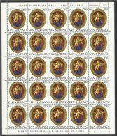 1974 San Marino Saint Marin NATALE CHRISTMAS 25 Serie In Foglio X 25 MNH** Sheet - Natale