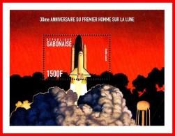 GABON 1999USA In SPACE = APOLLO 11  (SHUTTLE LAUNCH) S/S  SC#940 CV$8.75 MNH ** Postfrisch - Collections