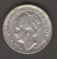 PAESI BASSI 10 CENTS 1938 AG SILVER - 10 Cent