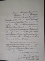 18 HENRICHEMONT Et PARIS VIIIe - Faire-Part De Mariage D´Anne LANDRON, Fille De P. Landron, Médaillé - 22 Octobre 1966 - Mariage