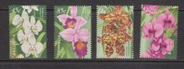 Australia 1998 Singapore Joint Issue Orchid Flower Set 4 MNH - 1990-99 Elizabeth II