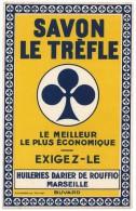 Buvard Savon Le Trèfle, Huilerie Darier De Rouffio, Marseille - Electricité & Gaz