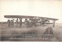 AVIATION - EXPEDITION - L´Aviateur Etienne POULET Sur CAUDRON G-4 Au Cours De Son Raid France-Australie ELD - Avions