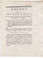 1793- Decret Qui Ordonne L´arrestation De Tous Les Sujets Du Roi De La Grande Bretagne,actuellement En France. 4 Pages T - Décrets & Lois