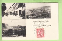 PONTARLIER En 3 Vues - Grand Hôtel De Paris Fourneret Propriétaire , Baud Successeur - Peu Courant -  2 Scans - Pontarlier