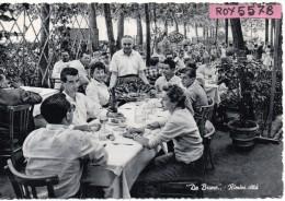 Emilia Romagna-rimini Ristorante Da Bruno Veduta Giardino Interno Tavoli Clienti Animatissima Anni/50 - Rimini