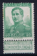 Belgium:  OBP 114  MNH/**/postfrisch/neuf  Mi 95 1912