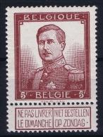 Belgium:  OBP 122  MH/* Falz/ Charniere Mi 99 1912