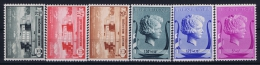 Belgium: OBP 532 - 537 MNH/**/postfrisch/neuf   Mi 529 - 534 1940