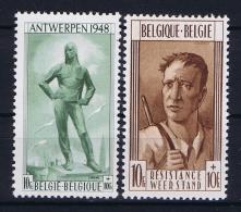 Belgium: OBP  785 - 786  MNH/**/postfrisch/neuf  Mi 828 - 829  1948