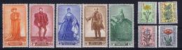 Belgium: OBP  814 - 822  MNH/**/postfrisch/neuf  Mi 854 - 862  1949