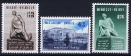 Belgium: OBP  860 - 862  MNH/**/postfrisch/neuf  Mi 906 - 908  1951