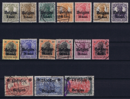 Belgium: OBP  OC10 - OC25  Geman Occupation Of Belgium  Used 1916 - Weltkrieg 1914-18