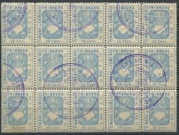 1227 - FRIBOURG Fiskalmarke Im 15er Bogenteil - Fiscaux