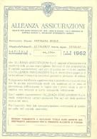 ASSICURAZIONI--  ALLEANZA 1962--  PARTECIPAZIONI UTILI - Old Paper