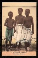 CPA ANCIENNE-AFRIQUE- SOMALIE- SOUVENIR DE DJIBOUTI-  3 PETITS DIABLOTINS SOMALIENS- - Somalia