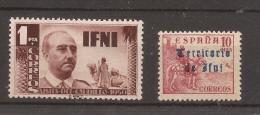 1951 Y 1948 Ifni Colonia Española Edifil 74** Y 40** MNH - Ifni