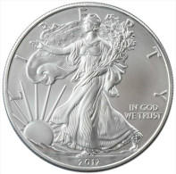 2012 - 1 Dollaro Argento Dollar En Argent - Liberty Silver Plata Eagle Silber Once Onza Oncia Unze - R. Lingots