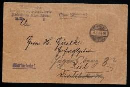Brief Tsingtau Kiautschou  Marine  Feldpost Marinesache    Gel./circ. 1904    Nr. 8424 - Kolonie: Kiaochow