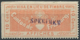 1232 - FRIBOURG Fiskalmarke Mit SPECIMEN Stempel - Fiscaux