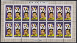 MANAMA 1970 MNH - Football World Cup, Player LUIGI RIVA Of ITALY, Full Sheet Of 16 Stamps - World Cup