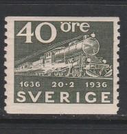 SUEDE N° 242 40 O OLIVE TRAIN EXPRESS AVEC WAGON POSTE NEUF AVEC CHARNIERE - Nuovi