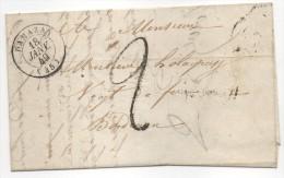 Courrier Commercial Siderurgie - CAD Damazan (Lot Et Garonne) Pour Bordeaux 1849 - Marcophilie (Lettres)