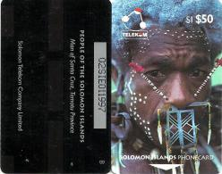 "SOLOMON ISLANDS $50 PEOPLE OF SI MAN FROM SANTA CRUZ 2ND TYPE ""B"" ON REVERSE 1993 GPT CODE: SOL-08A READ DESCRIPTION !! - Solomoneilanden"